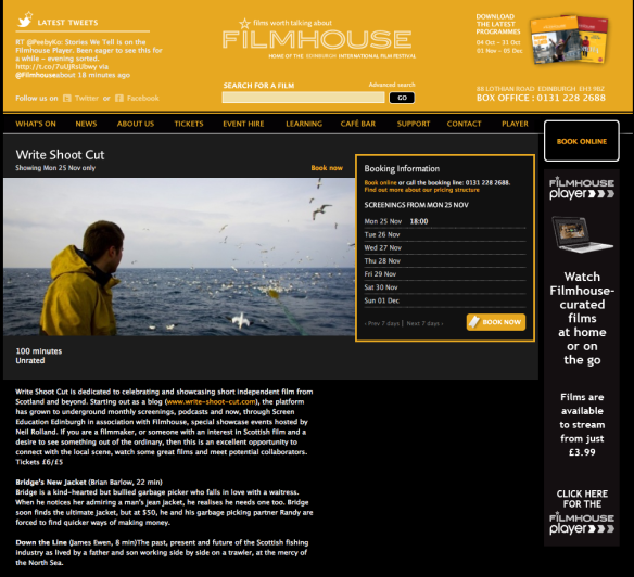 Edinburgh Filmhouse Screening
