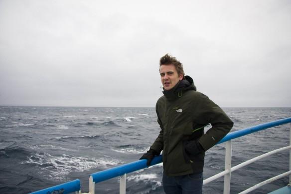 Duncan filming in Shetland