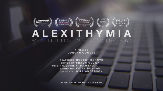 Alexithymia Short Film Poster - Duncan Cowles 2017
