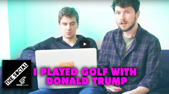 I Played Golf with Donald Trump - BBC The Social